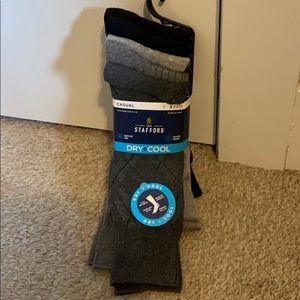 NWT Stafford Men's Casual Dry + Cool Socks